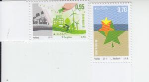2016 Luxembourg Think Green - Europa (2) (Scott 1428-29) MNH