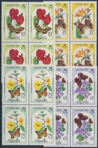 Anguilla stamp Easter: Butterfly and flower set MNH 1982 Mi 478-481 WS160241
