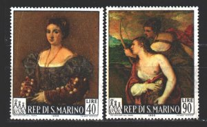 San Marino. 1966. 865-66 from the series. Painting, paintings. MNH.