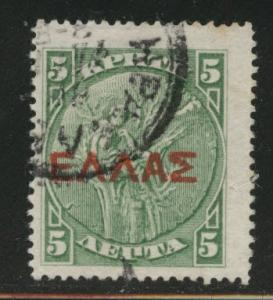 Crete Scott 113 used 1909 overprint
