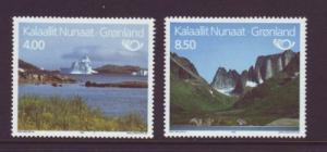 Greenland Sc 240-1 1991 Tourism stamp set mint NH