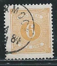 Sweden J15 1877-86 6o Postage Due single Used