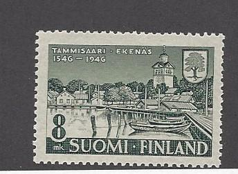 Finland, 256, Town of Tammisaan (Ekenas) - 400th Single,  **VLH**