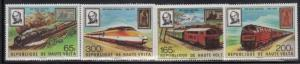 Upper Volta 501-4 Trains Mint NH (LB)