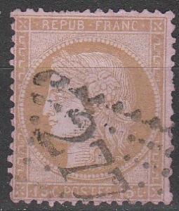 France #60a F-VF Used CV $4750.00 (D1136)