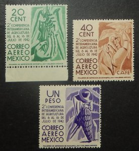 Mexico C126-28. 1942 Inter-American Agricultural Conference, NH