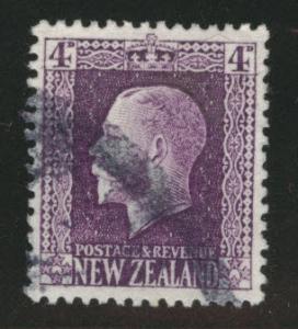 New Zealand Scott 151 used 1916 Purple KGV