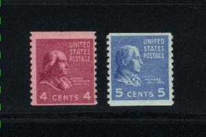 USA #843, 845  Mint  1939 .60