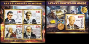 TCHAD CHAD 2015 SCIENCE CURIE WOODWARD LAVOISIER NOBEL PRIZE [#1531P]