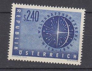 J29491, 1956 austria set of 1 mh #611 design
