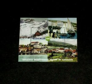 TOPICAL MIXED, 2005, SLOVENIA #589, TOURISTS ASSOC., S/S, LOT #116, MNH, LQQK