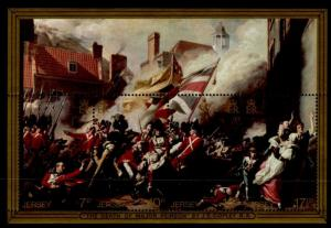 Jersey 245a MNH Military, Flag, Death of Major Peirson, Battle of Jersey