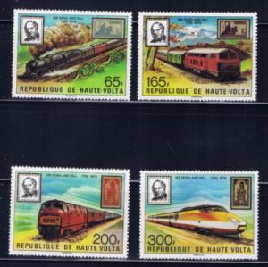 Burkina Faso 501-04 NH 1979 Trains set