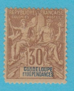 GUADELOUPE 39 MINT HINGED OG *NO FAULTS VERY  FINE !