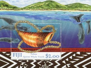 Fiji 1998 MARINE LIFE WHALES s/s Perforated Mint (NH)