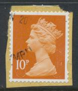 GB Security Machin 10p SG U2923 SC# MH 405 Used Souce / Date Code 16 see details