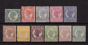 QUEENSLAND 1897 QV set ½d TO 2/- SPECIMEN BECHUANALAND ARCHIVES UNIQUE!