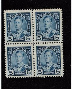 CANADA (MK2961) # 214  VF-MH  5cts KGV JUBILEE/ PRINCE OF WALES /BLOCK 4 CAT $24