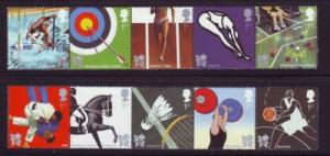 Great Britain Sc 2702-11 2009 Olympics 2012 stamp set NH