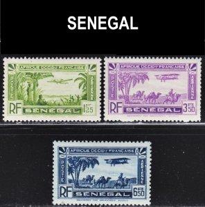 Senegal Scott C4, C7, C9 F to VF mint OG NH.
