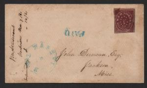 $Nashville Tenn. CSA Sc#61x2 Provisional cover Nov. 7, 1861 embossing PF Cert.