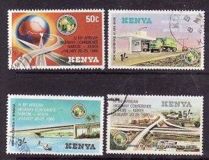 Kenya-Sc#158-61- id2-used set-Highway Conference-1980-