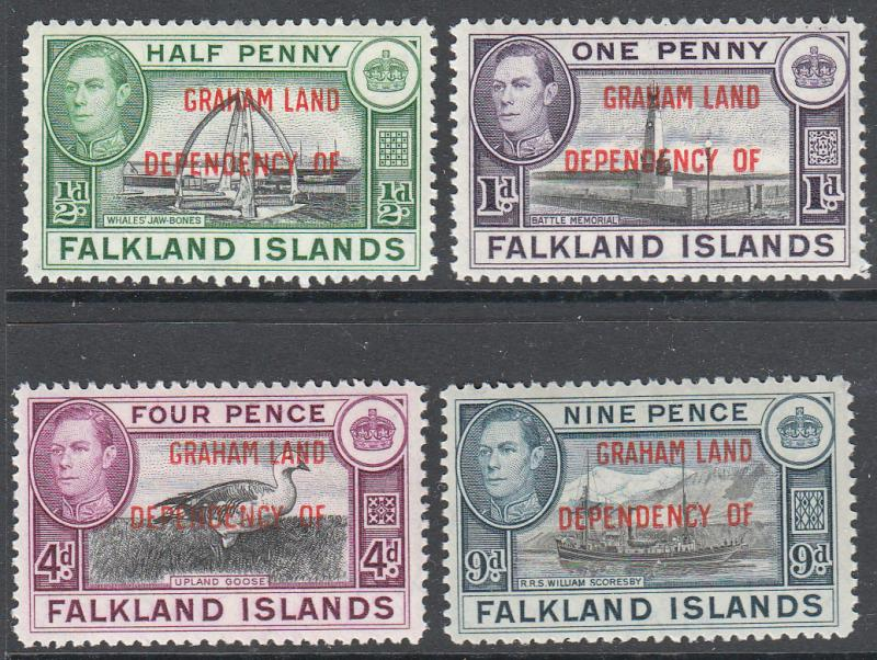 Falkland Islands Graham Land KGVI 1944 Set SGA1-8 Mint Never Hinged MNH UMM