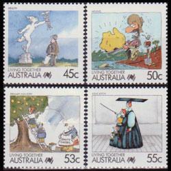 AUSTRALIA 1988 - Scott# 1065-8 Living Together 45-55c NH