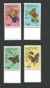 Netherlands Antilles-Scott's # 414-417-Butterflies-CTO - Used