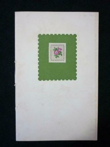 HARRISON & SONS PRESENTATION BOOKLET INCLUDING 6x WILDINGS OVERPRINTED CANCELLED