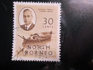 North Borneo #253 used