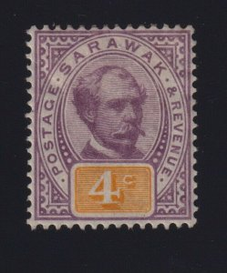 Sarawak Sc #11 (1888-97) 4c lilac & yellow Charles Johnson Brooke Mint VF H