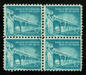 USA, 1 1/4 cents, Block 4 stamp, SC #1031A (L-9)