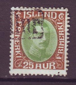 J25512 JLstamps 1920-2  iceland used #120 better revenue cancel