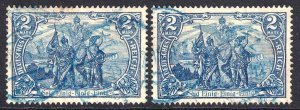 GERMANY 93b PERF HOLES 26:17 BLUE CDS SOUND x2 $95 SCV F/VF TO VF