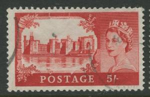 STAMP STATION PERTH Great Britain #526 QEII Castle Definitive Used CV$0.65.