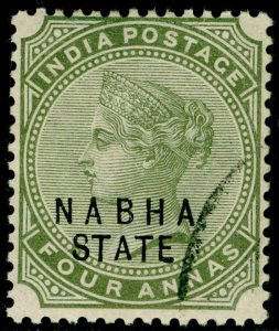 INDIA STATES SG23, 4a olive-green, FINE USED.