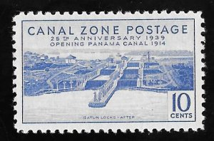 CANAL ZONE 127 10 cents 25th Anniversary Stamp Mint OG NH EGRADED VF 83