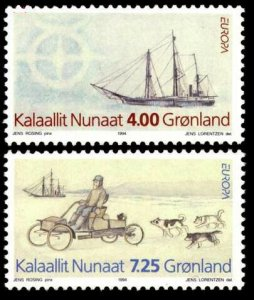 1994 Greenland 247-248 Europa Cept / Ships with sails 5,00 €