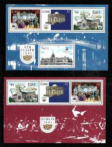 Ireland-Sc#830a,831a-unused NH sheets-Dublin Grand Opera Society-Music-1991-