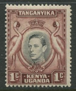 Kenya & Uganda - Scott 66a - KGVI Definitive -1938 - MNH - Single 1c Stamp