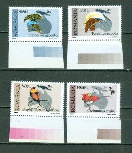 ROMANIA 2000 BIRDS #4350-53 SET MNH...$3.50