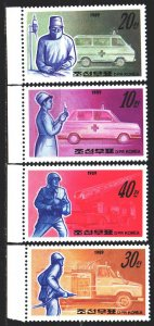North Korea. 1989. 3034-37. Medical and fire fighting equipment. MNH.