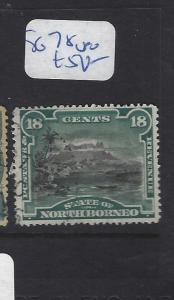 NORTH BORNEO (P2609B)  18C MOUNTAIN SG 78   VFU