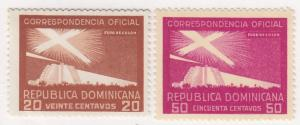 Dominican Republic, Sc # O30-O31, MH,1956, Proposed Lighthouse
