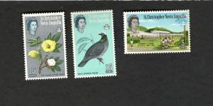 St.Christopher Nevis Anguilla SC #150 #153 #155 MH stamps Pigeon  Cotton