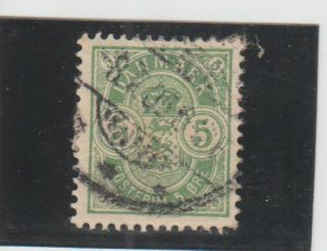 Denmark  Scott#  38  Used  (1884 Arms)