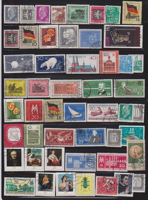 LOT OF DIFFERENT STAMPS OF DDR USED (51) LOT#450
