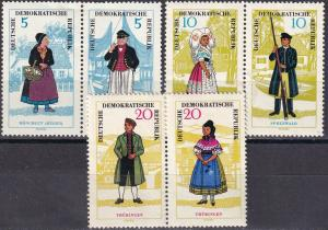 DDR  #740a, 742a, 744a  F-VF Unused  CV $40.00  (A19148)