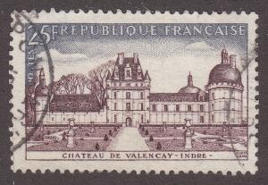 France 853 Hinged Used 1957 Chateau de Valencay, Indre
